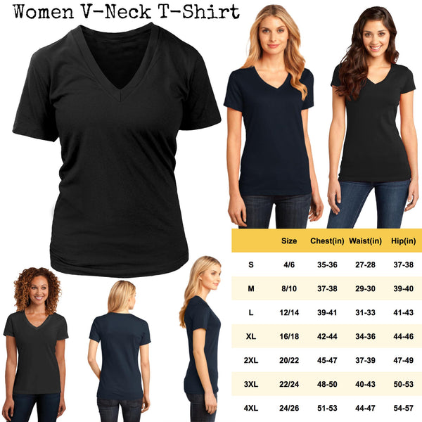 Don't Let The Bald Head Fool You I Can Still Play Guitar Like RockStar Guitarist Women V-Neck T-Shirt-NeatFind.net