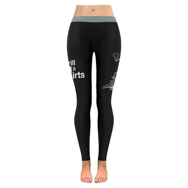 Drill It Till It Squirts Low Rise Leggings For Women (3 colors)-NeatFind.net