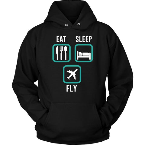 Eat Sleep Fly Awesome Humor Gag Unique Aviation Gifts Funny Gift Ideas Hoodie-NeatFind.net