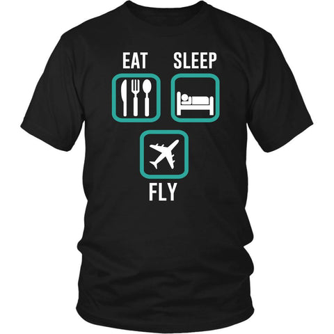 Eat Sleep Fly Awesome Humor Gag Unique Aviation Gifts Funny Gift Ideas TShirt-NeatFind.net