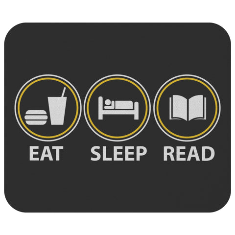 Eat Sleep Read Unique Avid Reader Stylish Funny Book Lover Gift Ideas Mousepad-NeatFind.net
