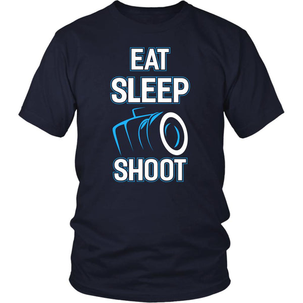 Eat Sleep Shoot Awesome Cool Photography Unique Photographer Gifts Ideas TShirt-NeatFind.net