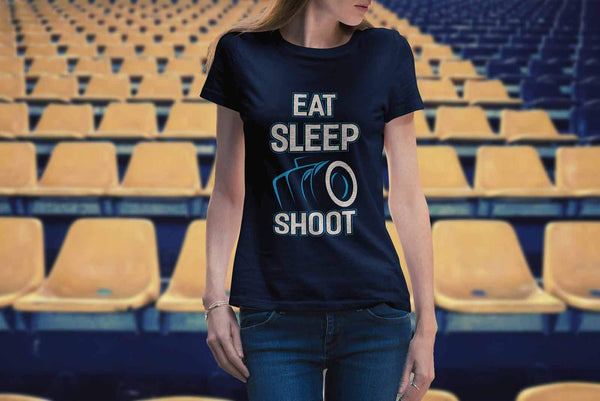 Eat Sleep Shoot Awesome Cool Photography Unique Photographer Gifts Women TShirt-NeatFind.net