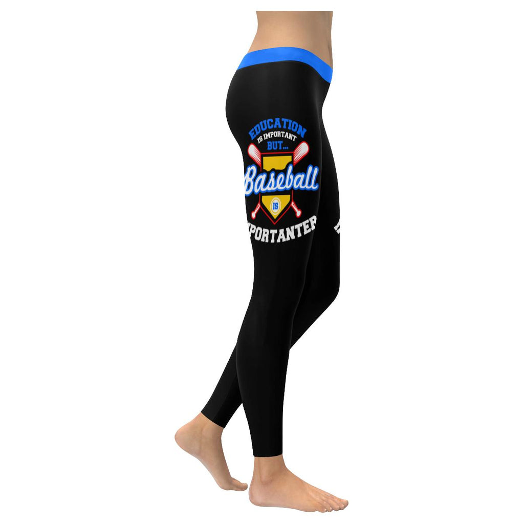 Education Is Important But Baseball Is Importanter Funny Gift Idea Women Legging-NeatFind.net