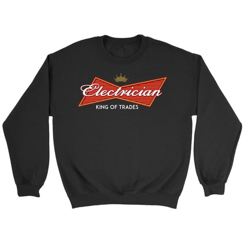 Electrician King Of Trades Awesome Cool Humor Funny Lineman Gift Ideas Sweater-NeatFind.net
