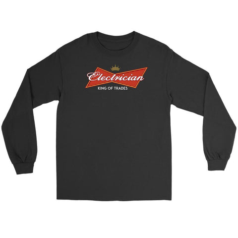 Electrician King Of Trades Awesome Humor Funny Lineman Gift Ideas Long Sleeve-NeatFind.net