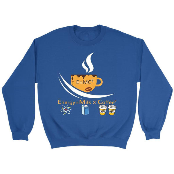 E=MC2 Energy = Milk X Coffee2 The Science of Coffee Lover Funny Gift Sweater-NeatFind.net