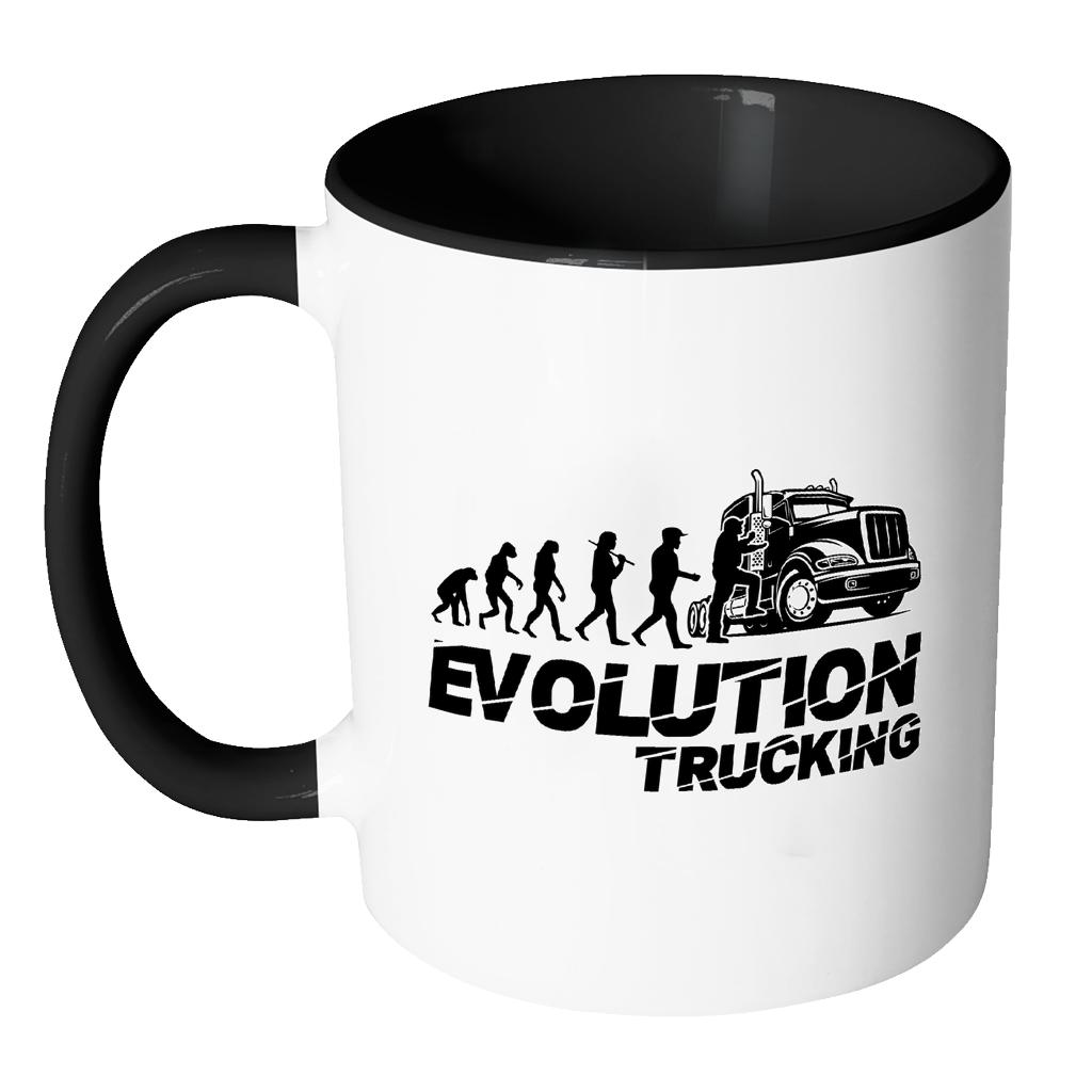 ... Evolution Trucking Practical Funny Gifts For Truck Driver White 11oz 7Colors Mug-NeatFind.net ...
