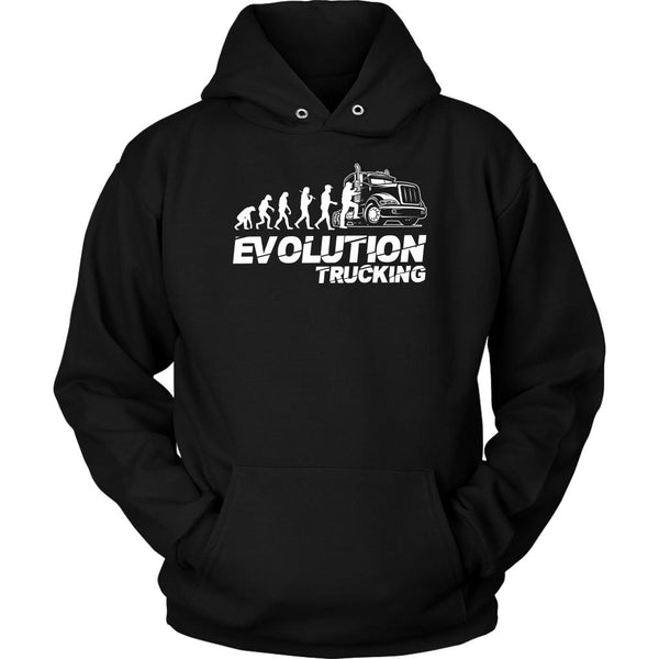 Evolution Trucking Practical Unique Funny Truck Driver Gifts Unisex Hoodie-NeatFind.net