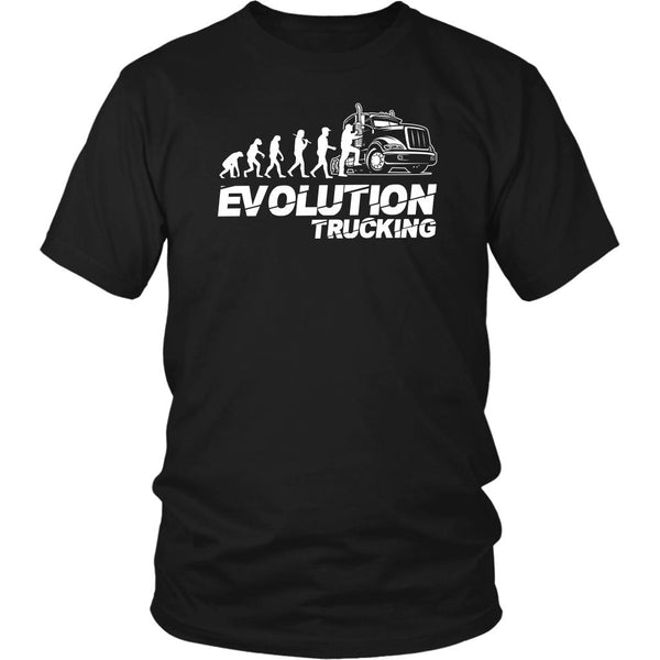 Evolution Trucking Practical Unique Funny Truck Driver Gifts Unisex T-Shirt-NeatFind.net