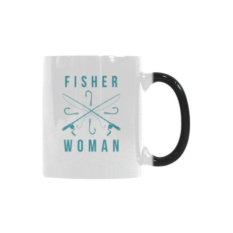 Fisherwoman Color Changing/Morphing 11oz Mug-NeatFind.net