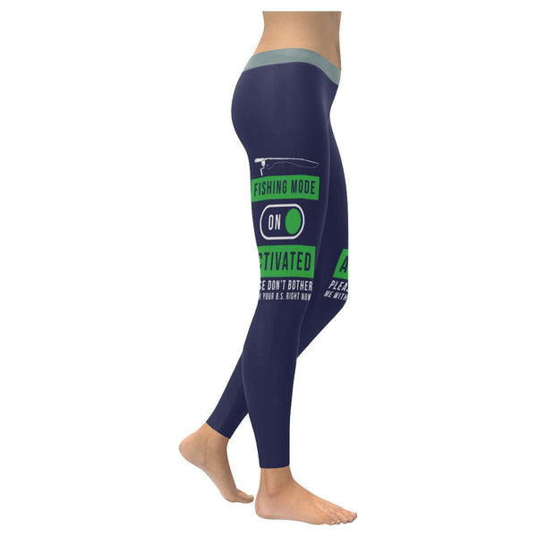 Fishing Mode Activated Please Don't Bother Me With Your BS Right Now Low Rise Leggings For Women (3 colors)-NeatFind.net