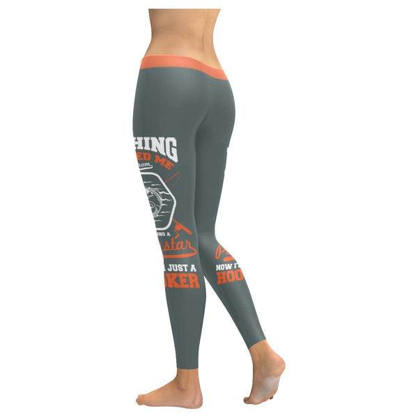 Fishing Saved Me From Becoming A Pornstar Now I'm Just A Hooker Low Rise Leggings For Women (3 colors)-NeatFind.net