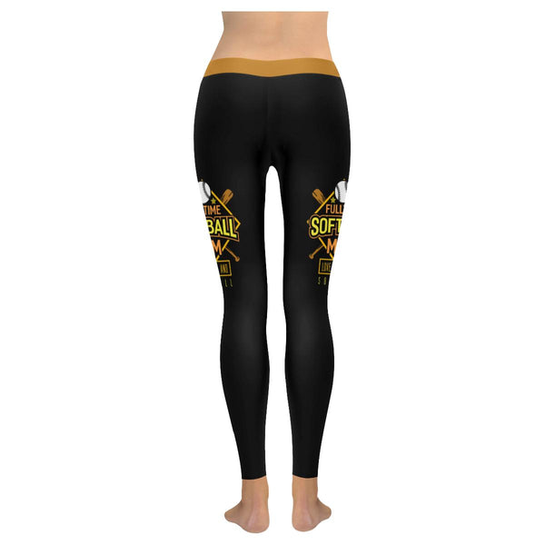 Fulltime Softball Mom Love Cheers And Softball Gift Ideas UPF40+ Womens Leggings-NeatFind.net