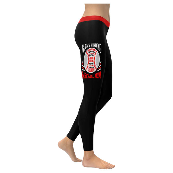 Glove Finding Picture Taking Alway Cheering Baseball Mom Gift Idea Women Legging-NeatFind.net