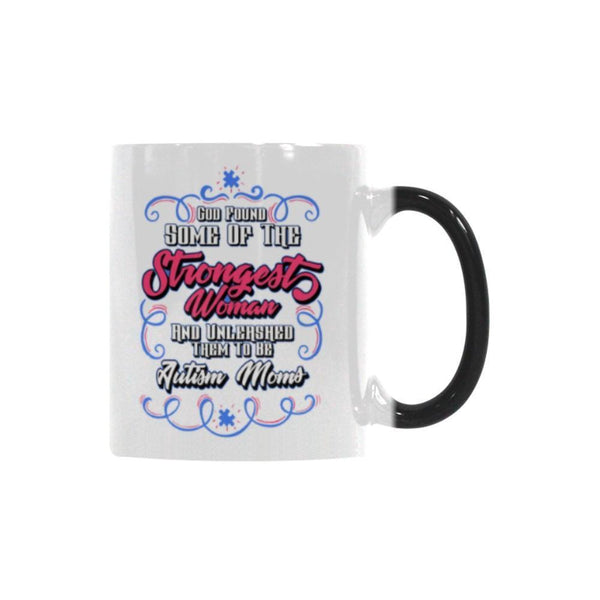 God Found Some Of The Strongest Woman And Unleashed Them To Be Autism Moms Autism Awareness V2 Color Changing/Morphing 11oz Coffee Mug-NeatFind.net