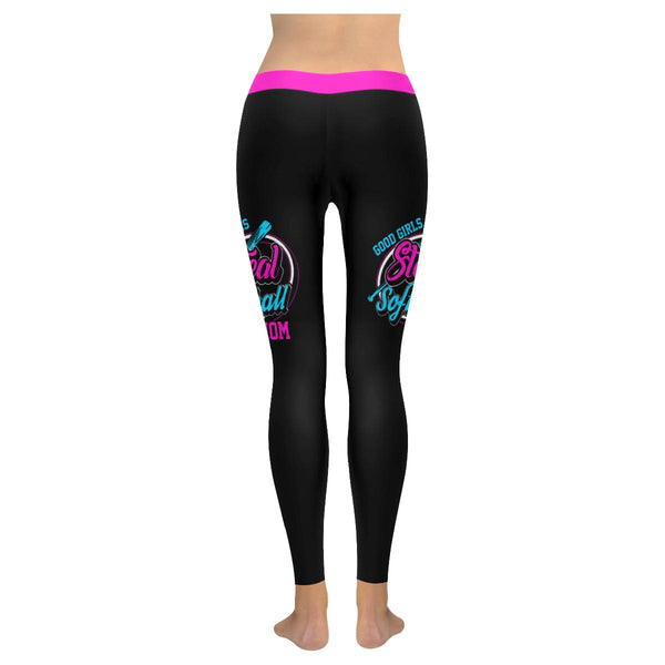 Good Girls Steal Softball Mom Funny Cute Gift Ideas Soft UPF40+ Womens Leggings-NeatFind.net