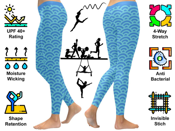 Grant Me Victory Soft UPF40+ Moisture Wicking Non See Through Womens Leggings-NeatFind.net