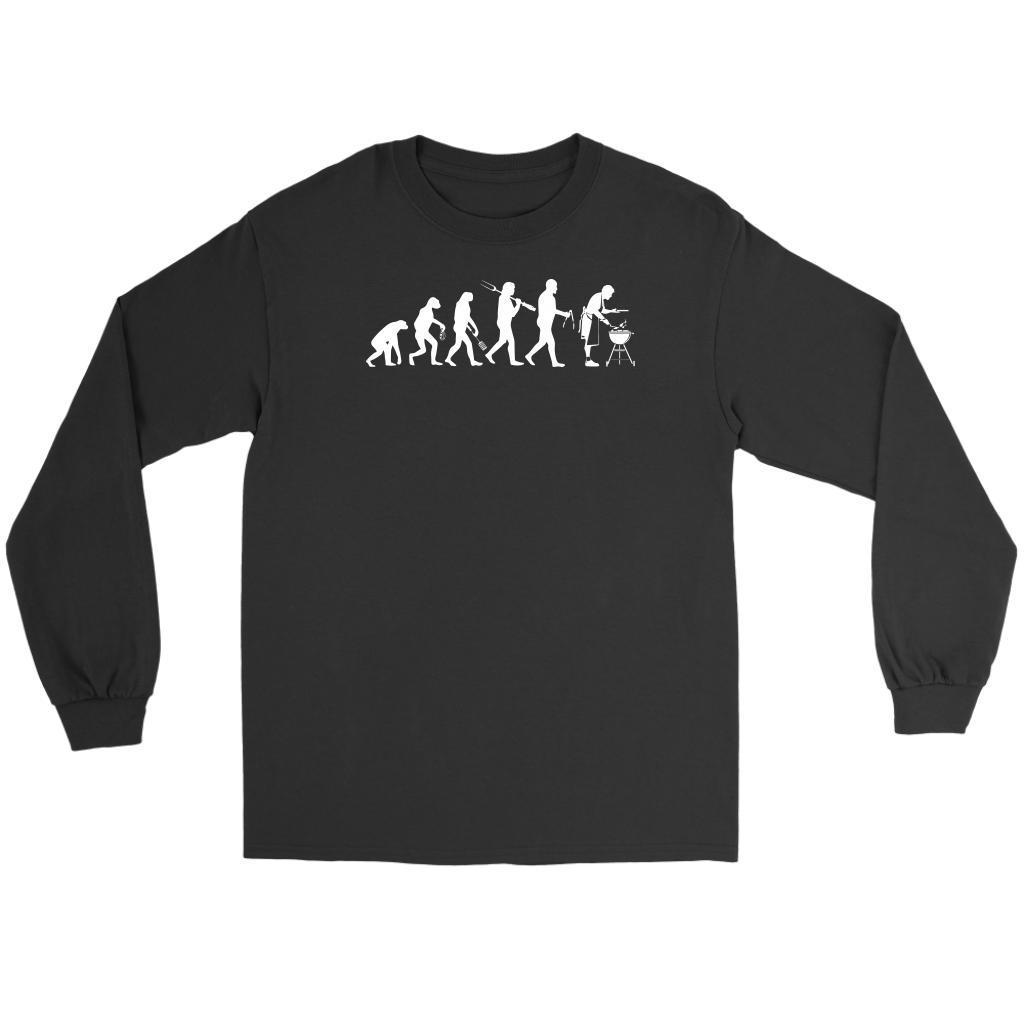 Grill Evolution Awesome BBQ Cool Funny Gifts Gag Soft Comfy Long Sleeve T-Shirt-NeatFind.net