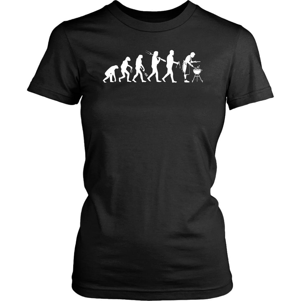 Grill Evolution Awesome BBQ Cool Funny Gifts Gag Soft Comfy T-Shirt For Women-NeatFind.net