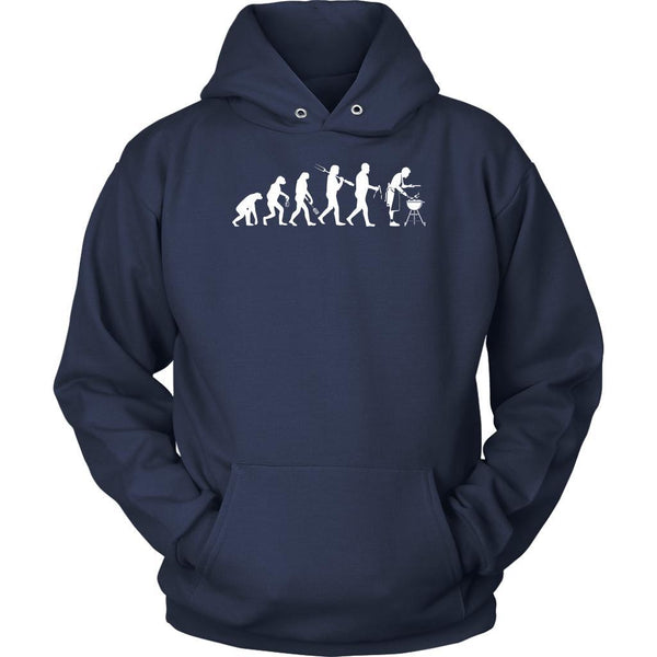 Grill Evolution Awesome BBQ Cool Funny Gifts Gag Soft Comfy Unisex Hoodie-NeatFind.net
