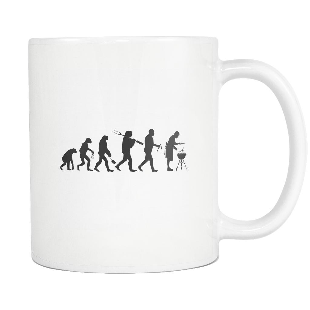 Grill Evolution Awesome BBQ Cool Funny Gifts White 11oz Coffee Mug-NeatFind.net