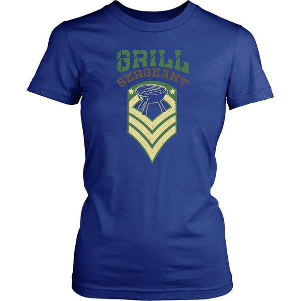 Grill Sergeant Army Military Veteran BBQ Funny Gifts Gag T-Shirt For Women-NeatFind.net