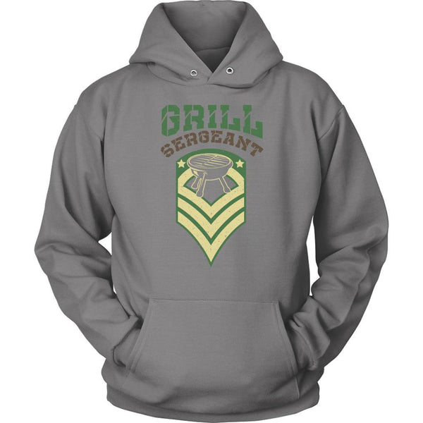 Grill Sergeant Army Military Veteran BBQ Funny Gifts Gag Unisex Hoodie-NeatFind.net
