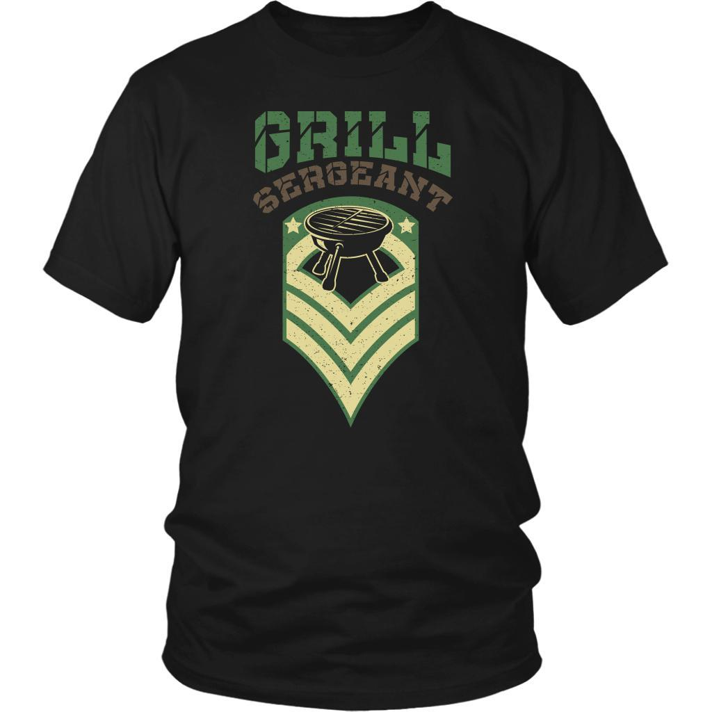 Grill Sergeant Army Military Veteran BBQ Funny Gifts Gag Unisex T-Shirt-NeatFind.net