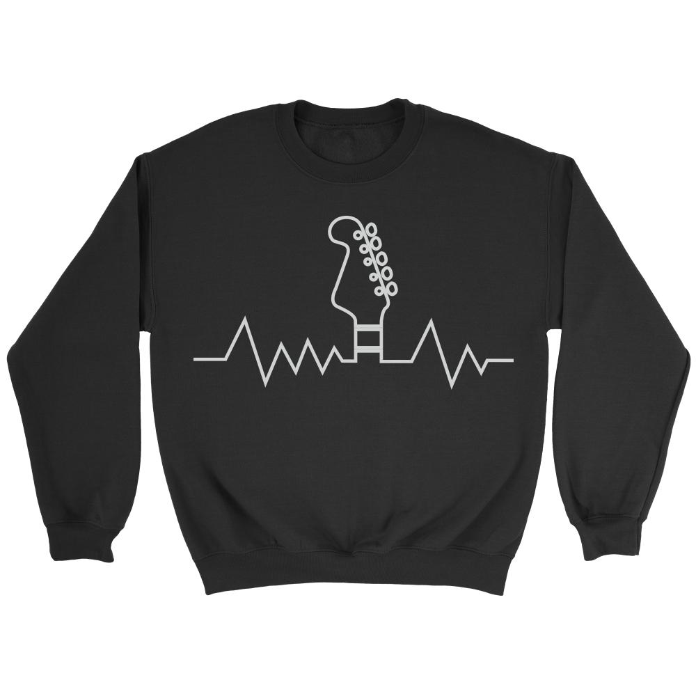 Guitar Heart Beat Pulse Monitor Oximeter Cool Funny Awesome Unique Guitarist Unisex Crewneck Sweatshirt For Women & Men-NeatFind.net