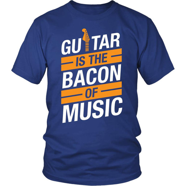 Guitar Is The Bacon Of Music Cool Funny Awesome Unique Guitarist Unisex T-Shirt For Women & Men-NeatFind.net