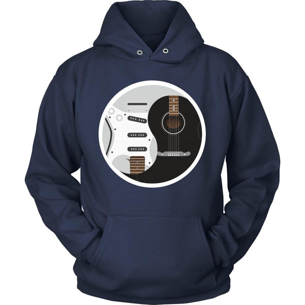 Guitar Yin Yang Black White Cool Funny Awesome Unique Guitarist Unisex Hoodie For Women & Men-NeatFind.net