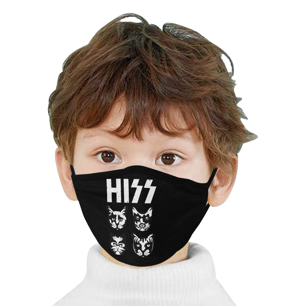 Hiss Kitten Cat Rock Band Washable Reusable Cloth Face Mask With Filter Pocket-Face Mask-NeatFind.net
