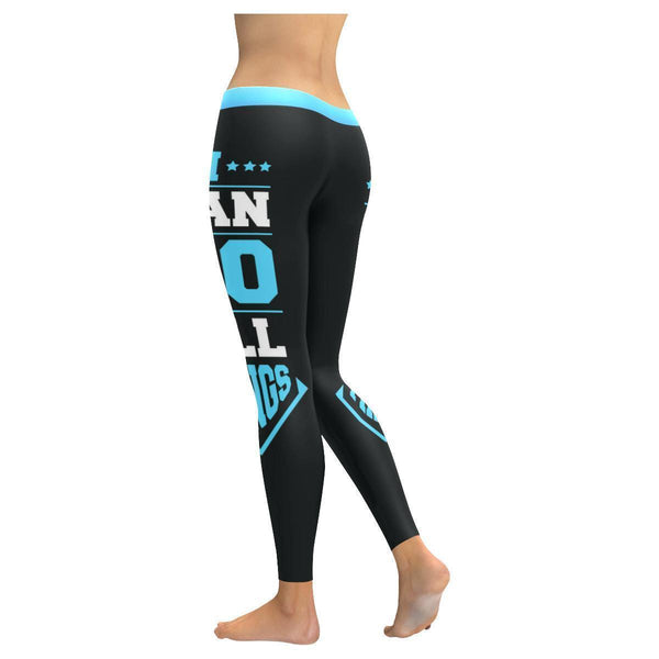 I Can Do All Things Jesus Savior Soft Breathable Christian UPF40+ Women Leggings-NeatFind.net