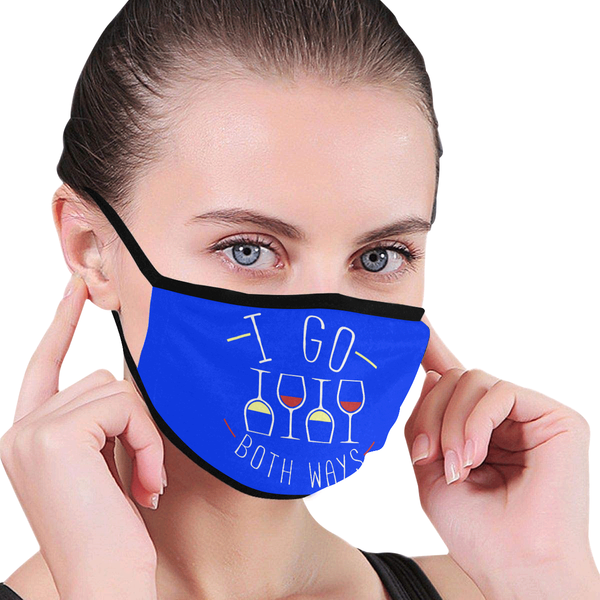 I Go Both Ways Funny Wine Washable Reusable Cloth Face Mask With Filter-NeatFind.net