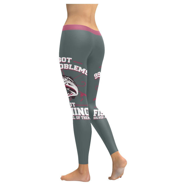 I Got 99 Problems But Fishing Solves All Of Them Low Rise Leggings For Women (3 colors)-NeatFind.net