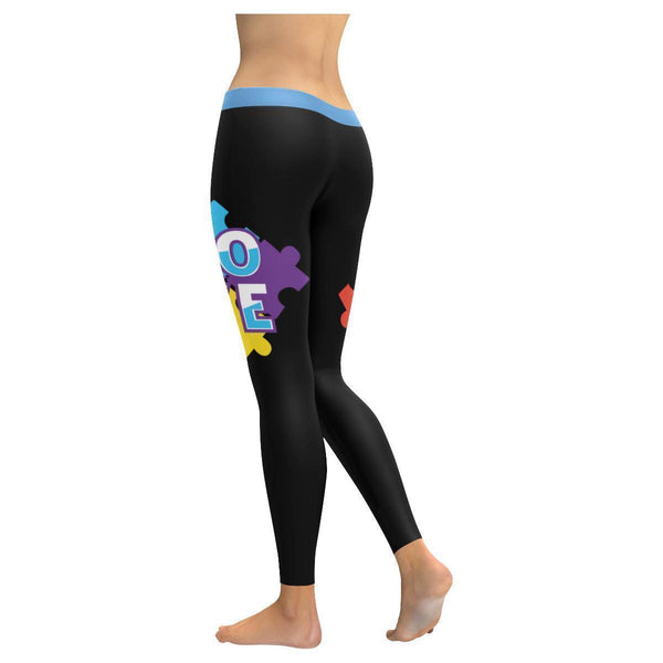 I Love Someone With Autism Awareness Special Need Teacher Gift Womens Leggings-NeatFind.net