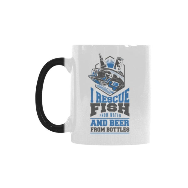 I Rescue Fish From Water And Beer From Bottles Color Changing/Morphing 11oz Mug-NeatFind.net