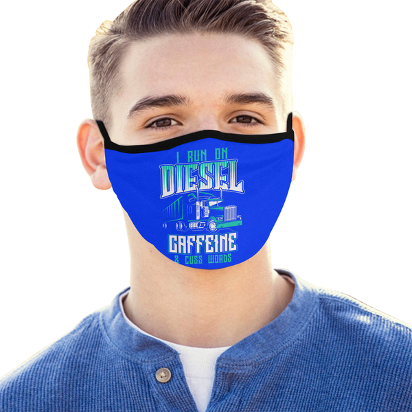 I Run On Diesel Caffeine & Cuss Words Washable Reusable Cloth Face Mask-Face Mask-NeatFind.net