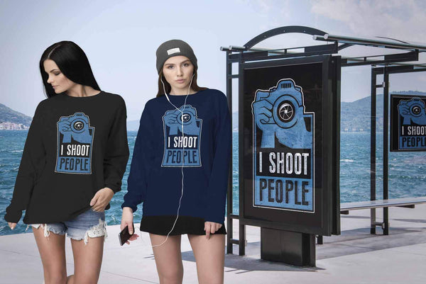 I Shoot People Awesome Cool Photography Funny Photographer Gifts Ideas Sweater-NeatFind.net