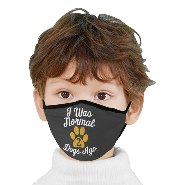 I Was Normal 2 Funny Dogs Ago Washable Reusable Cloth Face Mask With Filter-Face Mask-NeatFind.net