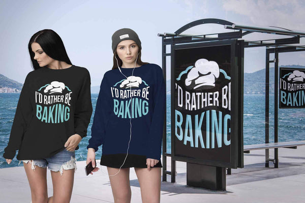 I'd Rather Be Baking Funny Gifts Ideas For Bakers Super Soft & Comfy Sweater-NeatFind.net
