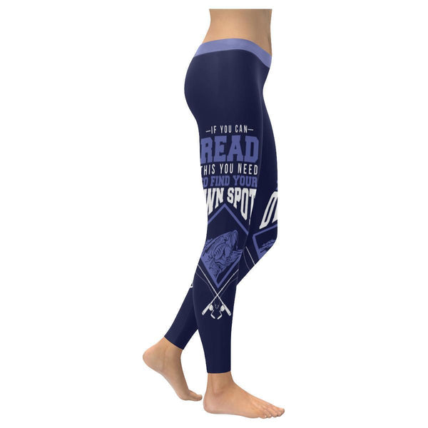 If You Can Read This You Need To Find Your Own Spot Low Rise Leggings For Women (3 colors)-NeatFind.net
