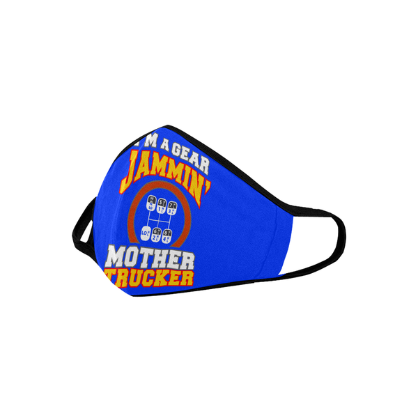 Im A Gear Jammin Mother Trucker Washable Reusable Cloth Face Mask With Filter-Face Mask-NeatFind.net