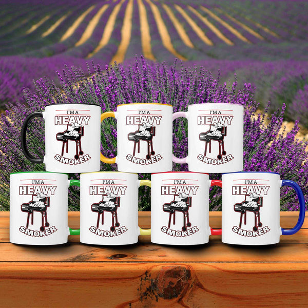 I'm A Heavy Smoker Awesome BBQ Cool Funny Gifts 7Color 11oz Coffee Mug-NeatFind.net