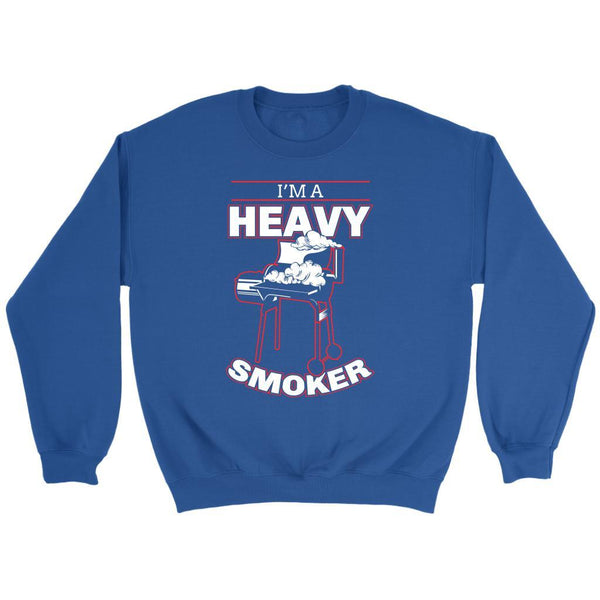 I'm A Heavy Smoker Awesome BBQ Cool Funny Gifts Gag Soft Comfy Crewneck Sweater-NeatFind.net