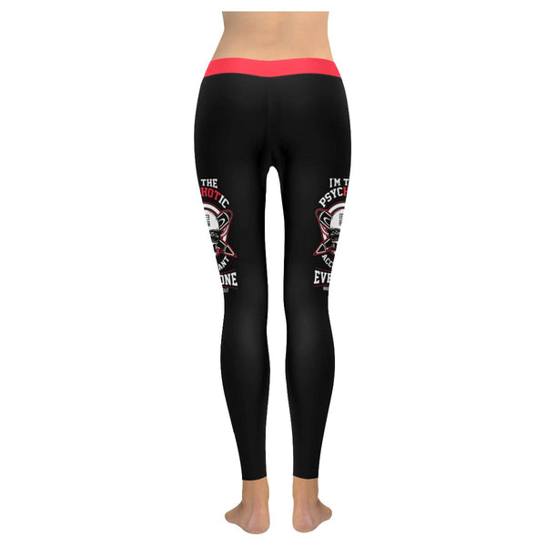 Im The Hot Psychotic Accountant Everyone Warned You About CPA Gift Women Legging-NeatFind.net