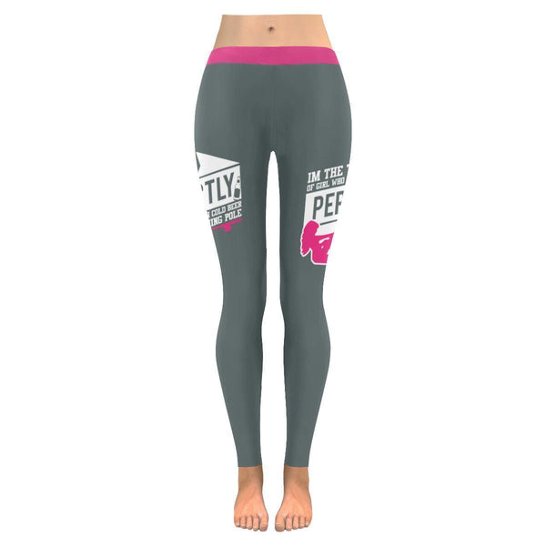 Im Type Of Girl Who Is Perfectly Happy With Cold Beer A Fishing Pole V2 Low Rise Leggings For Women (3 colors)-NeatFind.net