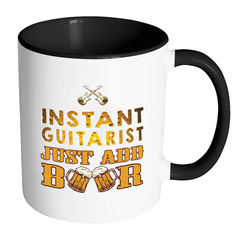 Instant Guitarist Just Add Beer Electric Awesome Best Cool Funny Gag Guitarist 11oz 7 Colors Coffee Mug-NeatFind.net