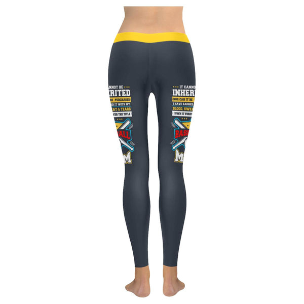 It Cannot Be Inherited Nor Purchased Forever Baseball Mom Gifts Womens Leggings-NeatFind.net